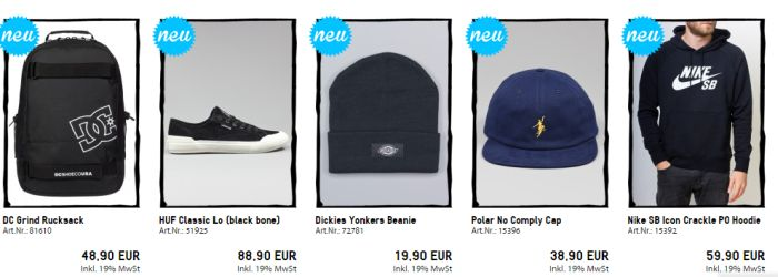 Blowout Angebot