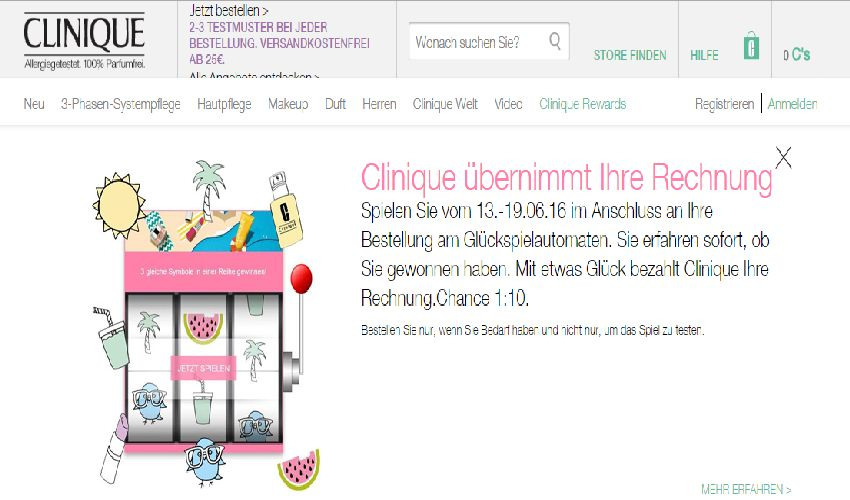 Clinique Gutschein