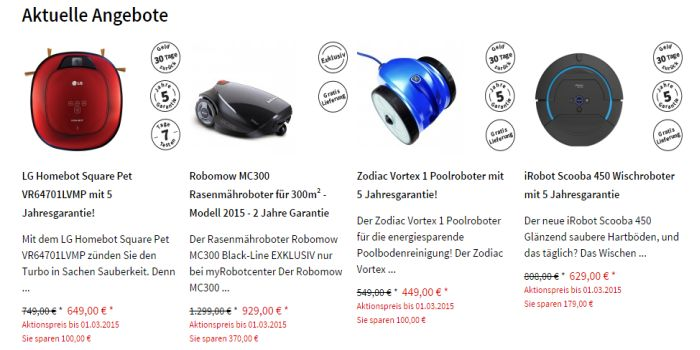 myRobotCenter Angebot