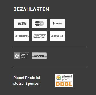 Planet Cards Bezahlung