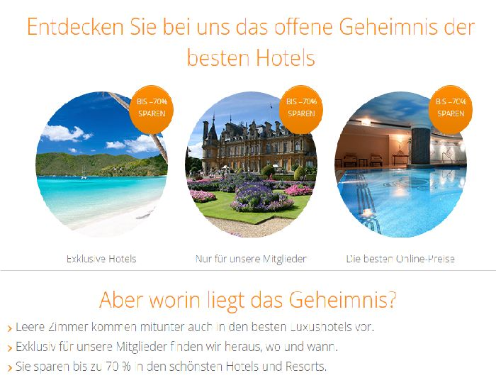 Secret Escapes Geheimnis